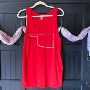 Red Oklahoma Graphic Tank Top